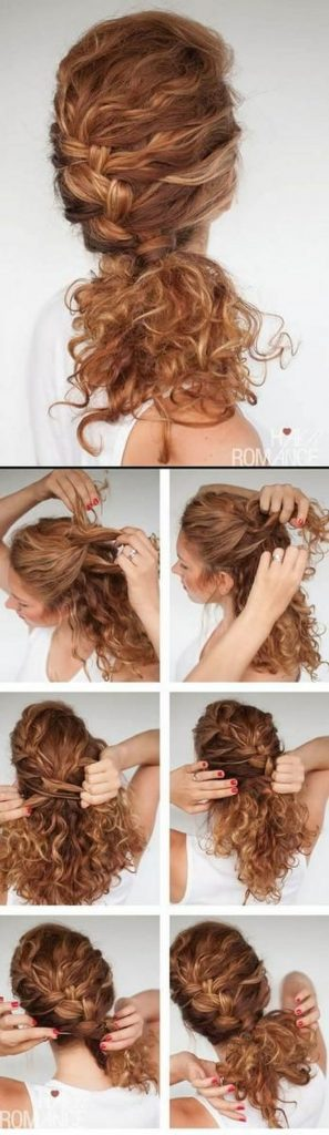 how to style curly hair braid twist