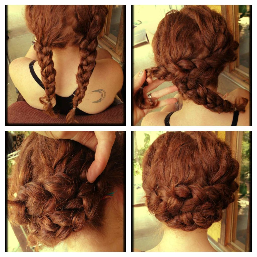 how to style curly hair pigtail buns