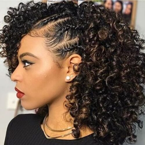 how to style short curly hair mini braids