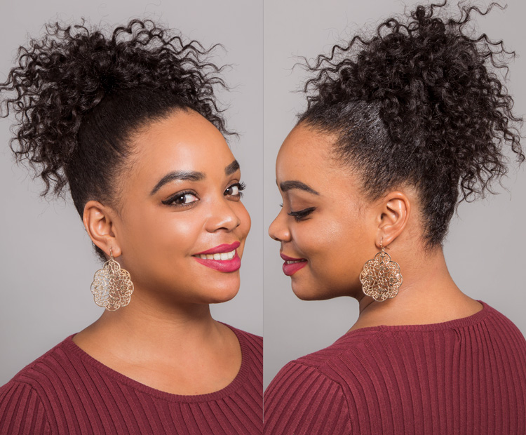 how to style short curly hair high ponytail
