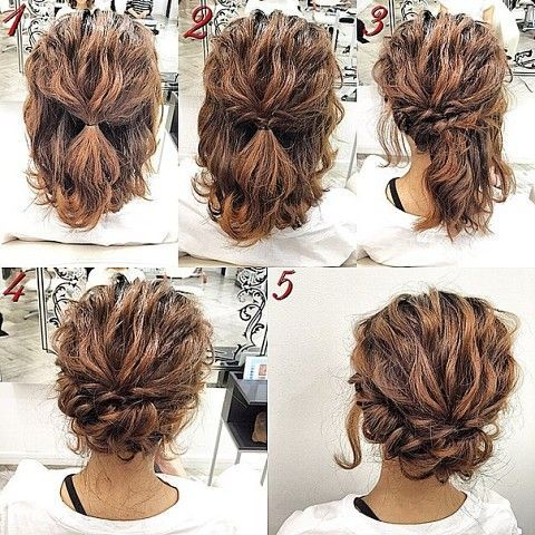 how to style short curly hair romantic curly do