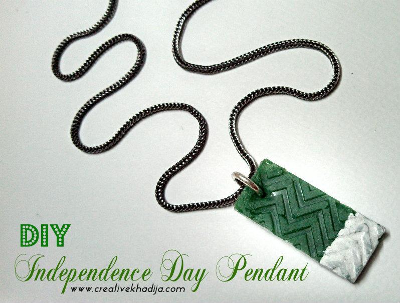 independence day crafts by creative khadija pendant