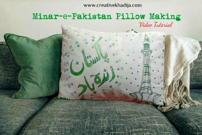 independence day crafts by creative khadija pillow making
