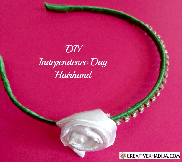 independence day crafts by creative khadija hairband