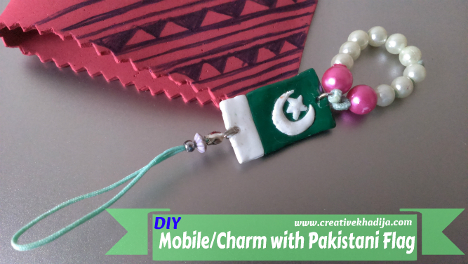 independence day crafts by creative khadija flag charm