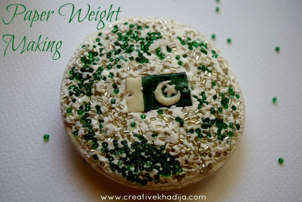 independence day crafts by creative khadija paper weight