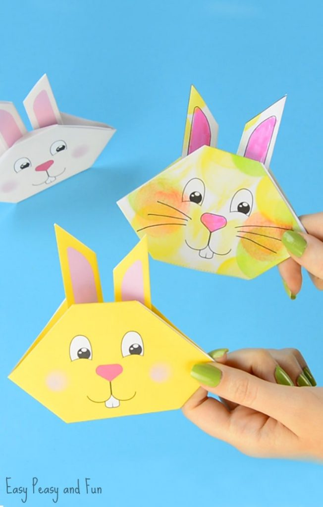 making animals as easy origami for kids bunny