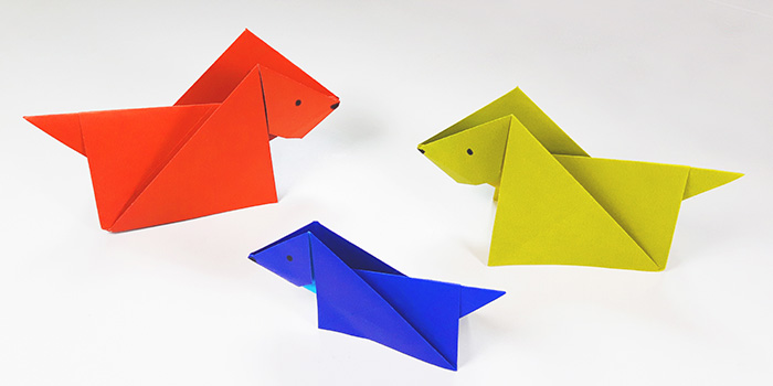 making animals as easy origami for kids dogs