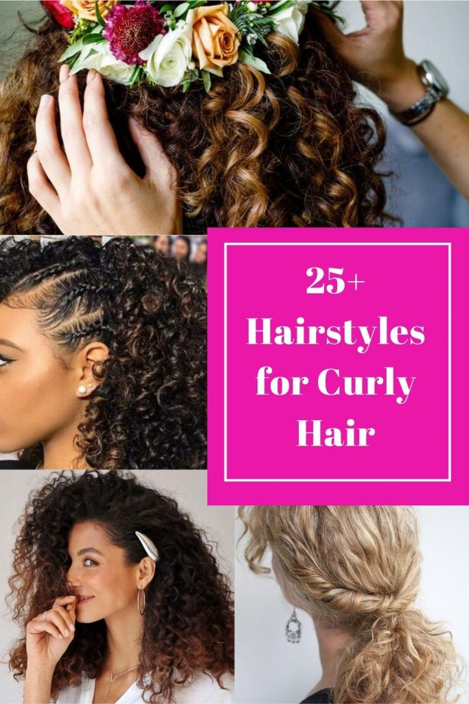 25+ Cute Hairstyles for Curly Hair for Girls