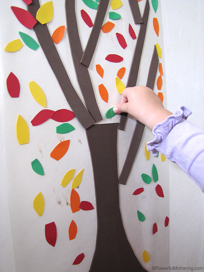 easy fall tree activity