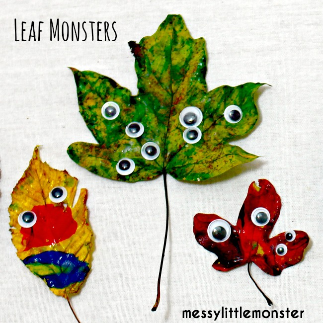 arts and crafts fun fall activities leaf monsters