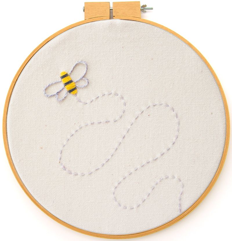 basic embroidery stitches for beginner bee design