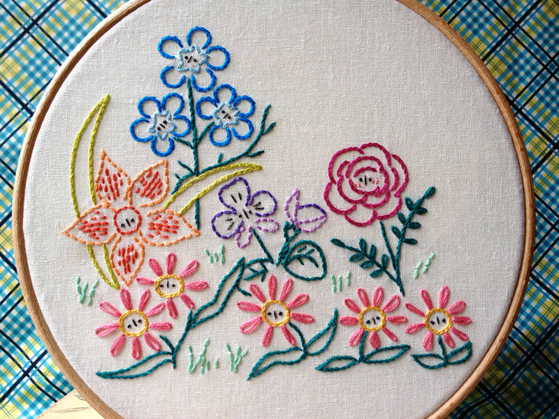 basic embroidery stitches for beginner garden patch