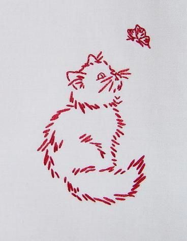 beautiful shirt embroidery design embroidered cat