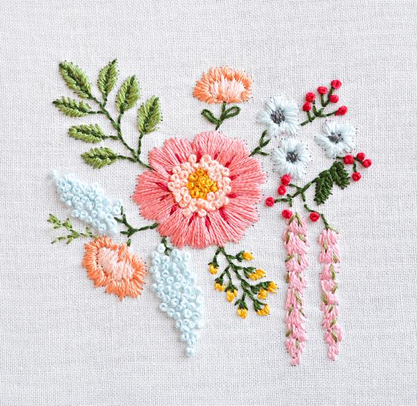 beautiful shirt embroidery design bouquet