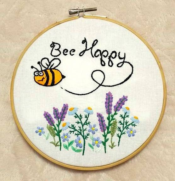 beautiful shirt embroidery design bee happy
