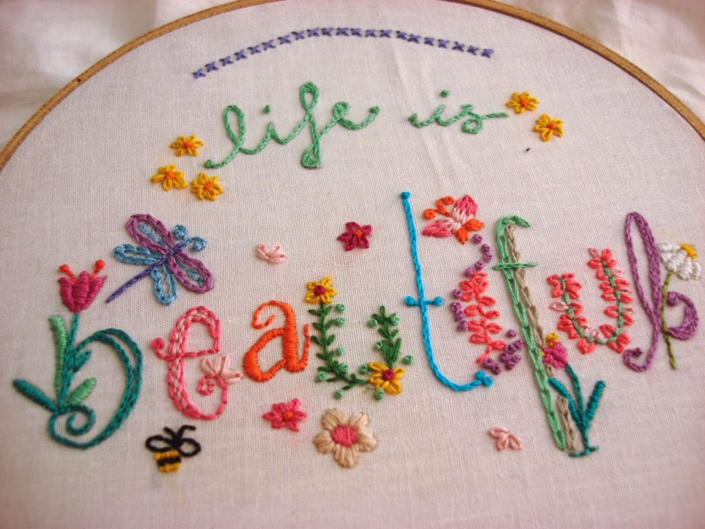best free embroidery patterns springtime
