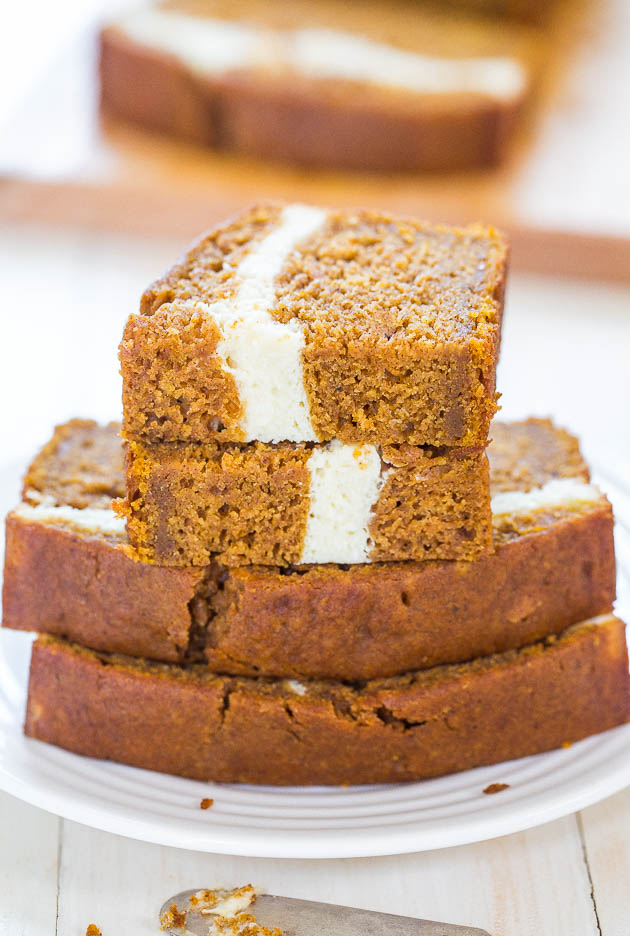 fresh pumpkin bread recipe cream cheese filled bread