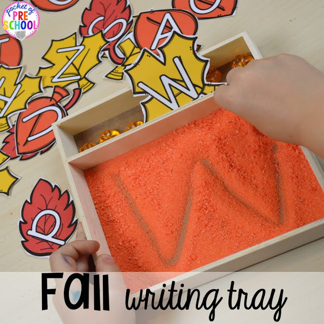 fall writing tray
