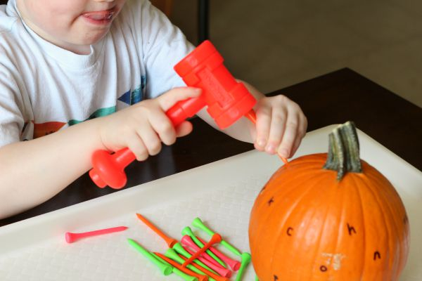 pounding pumpkin alphabet activity