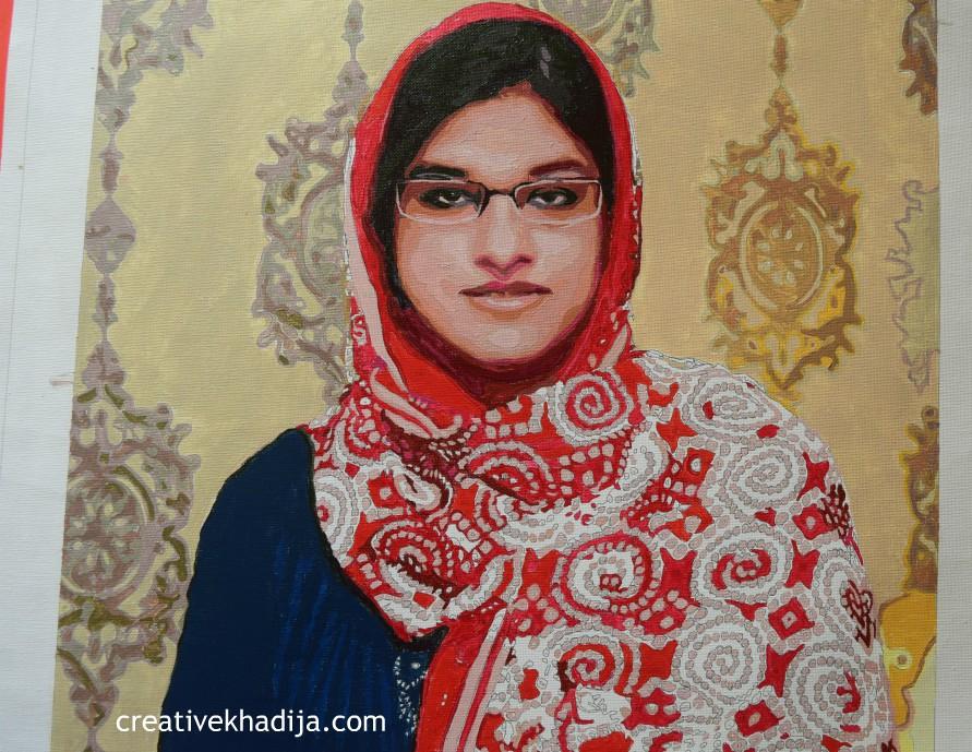 Creative Khadija Self Portrait Painting