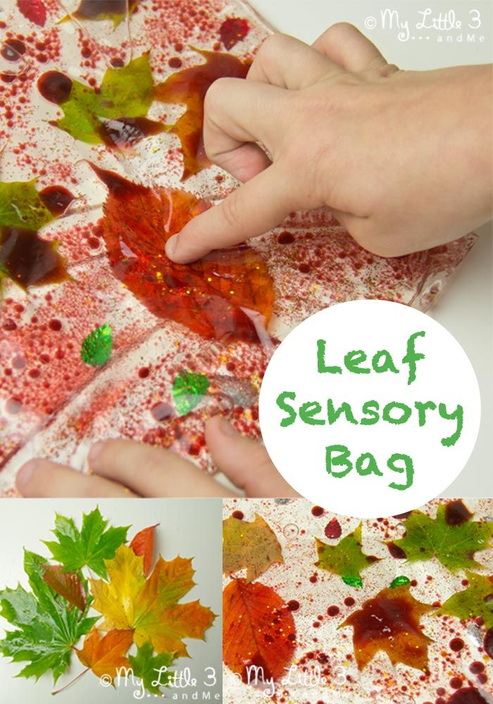 sensory fall activities to keep the toddlers busy fall bag