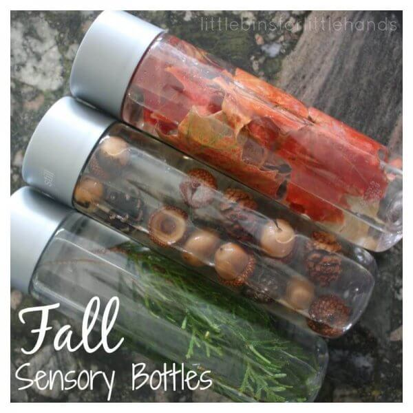 sensory fall activities to keep the toddlers busy sensory bottles
