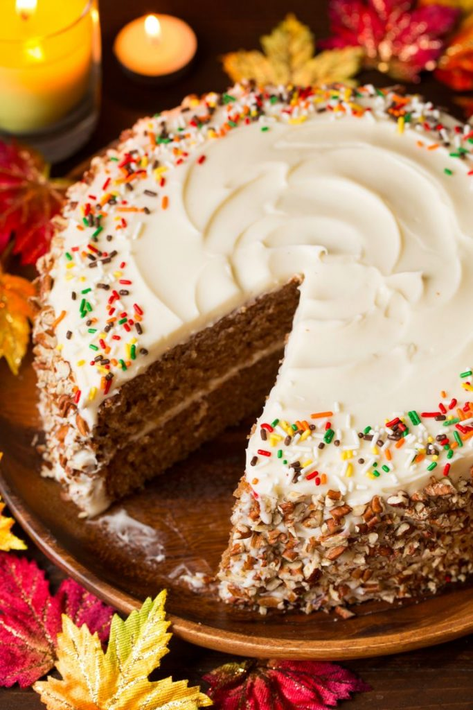 how to make a simple cake for fall cream cheese frosting cake