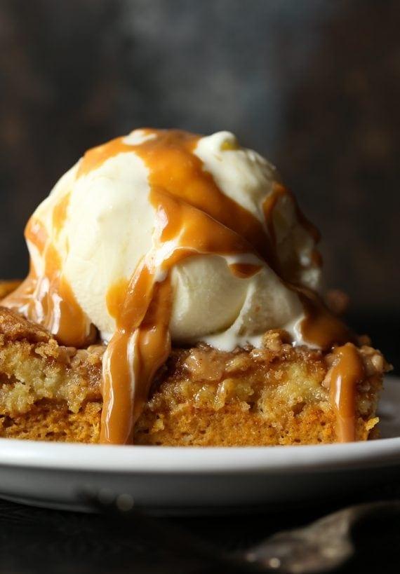 how to make a simple cake for fall pumpkin dump cake