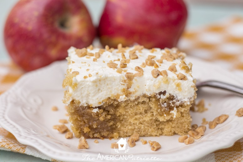how to make a simple cake for fall apple butter cake