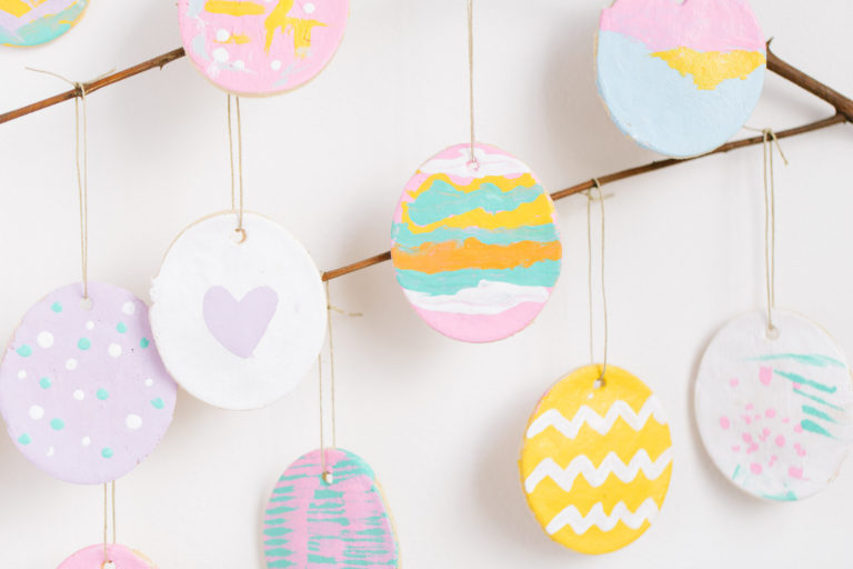 ideas for salt dough ornaments easter eggs