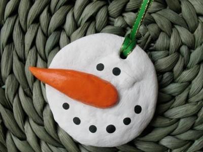 ideas for salt dough ornaments snowman ornament