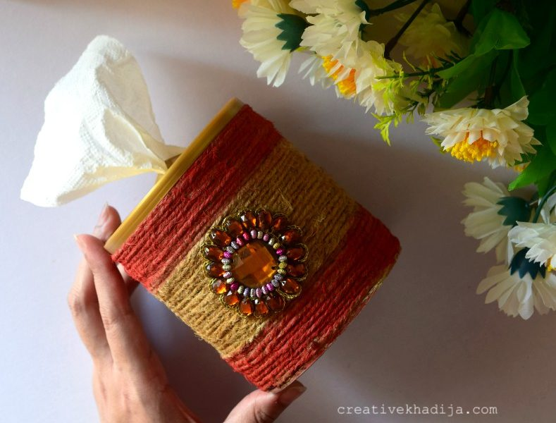 Tissue Paper Roll Holder Tutorial | Recycled Art Projects for Fall