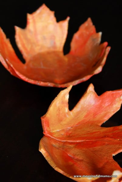 salt clay crafts for you to try leaf bowls