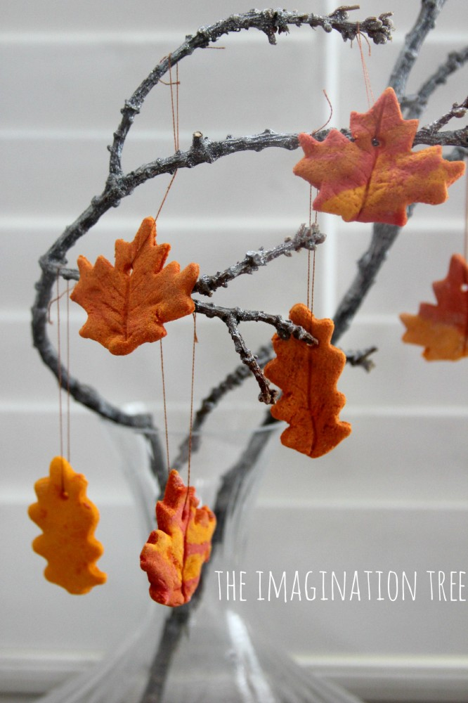 salt dough crafts for you to try autumn leaves