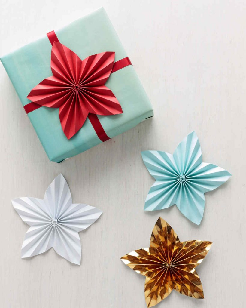 diy present topper star