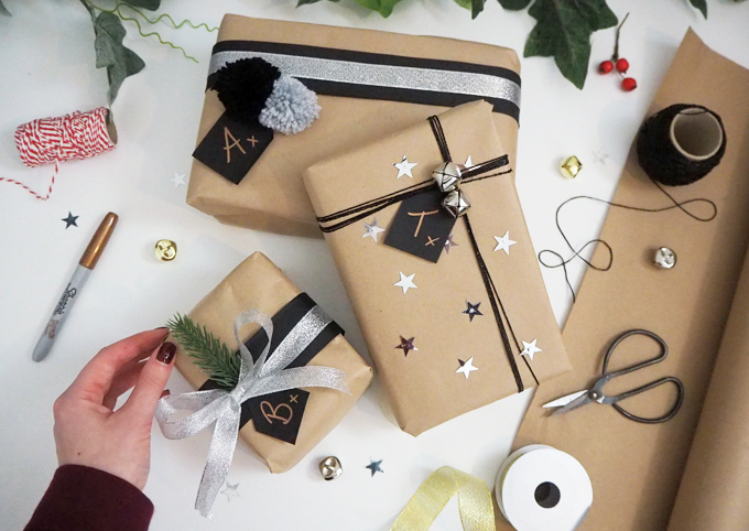 how to wrap a gift festive gift wrap