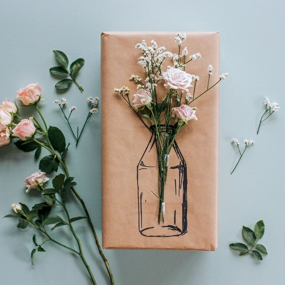 how to wrap a gift floral wrap