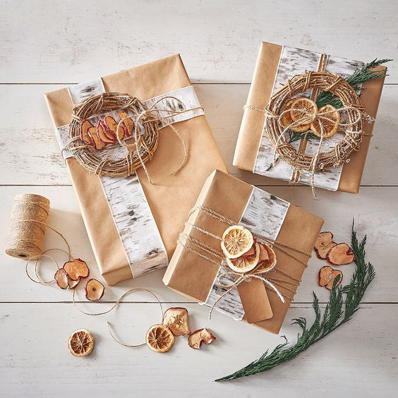 how to wrap a gift dried fruit wrapping