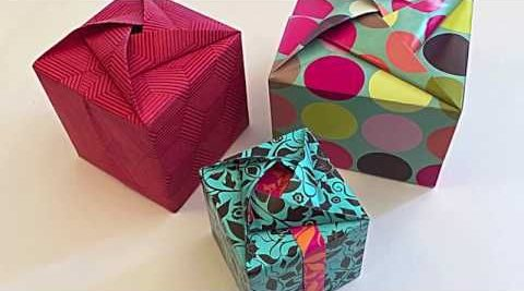 how to wrap a gift origami wrap