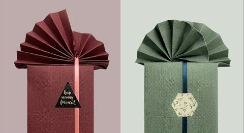 how to wrap a gift origami style wrapping