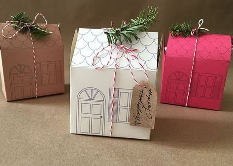 how to wrap a gift house box