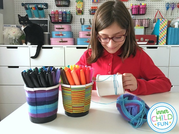 fun activities for kids weave cup