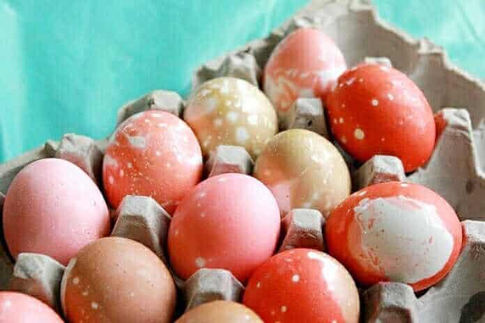 fun activities for kids dyed marbeled eggs