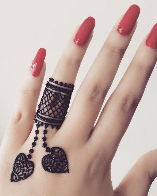 easy henna designs for fingers ring design