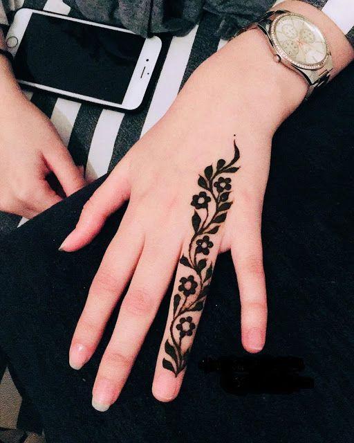 easy henna designs for fingers bail work