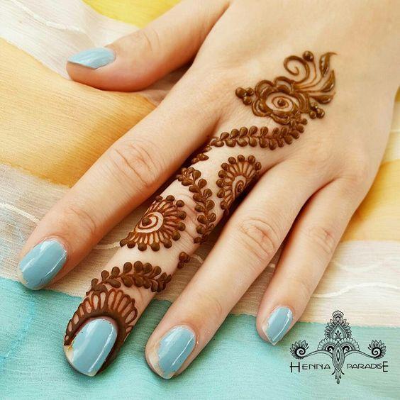easy henna designs for fingers zic zak design