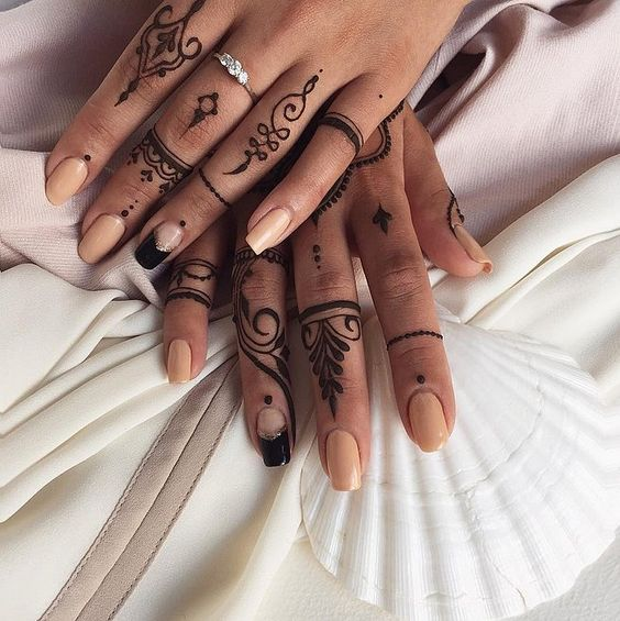 easy henna designs for fingers tattoo design
