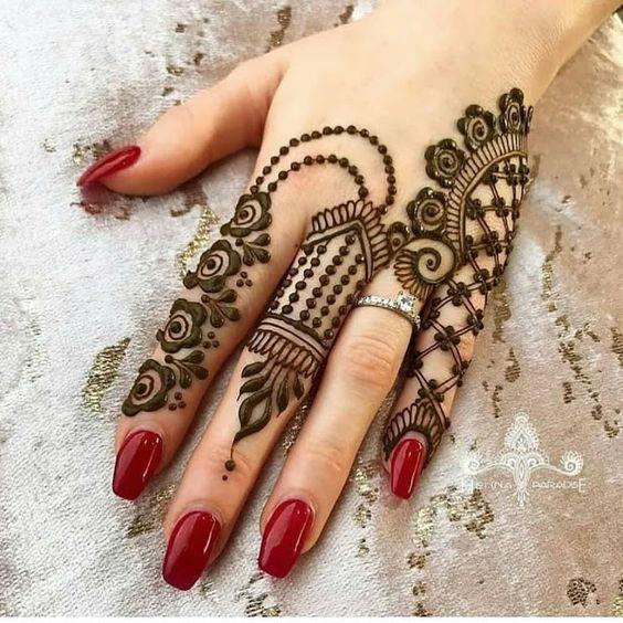 basic hand henna design lovely mehndi
