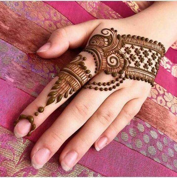 basic hand henna design hand mehndi
